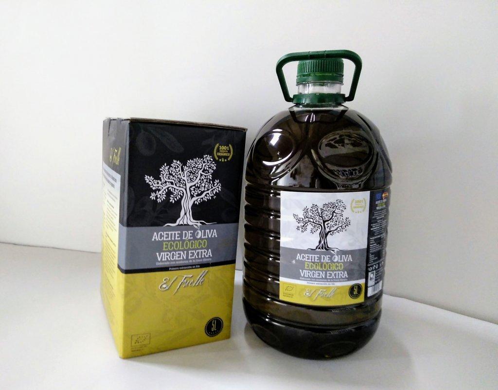 Envases para aceite de oliva virgen extra 5 litros